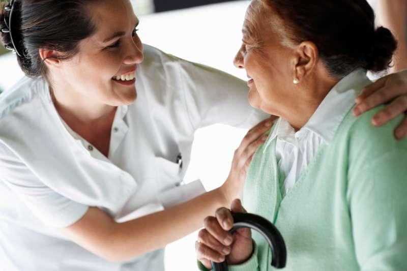 Old Lady + Nurse