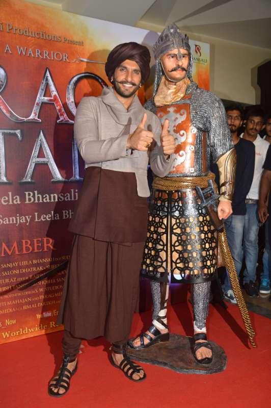 Ranveer Singh at Blazing Bajirao Launch