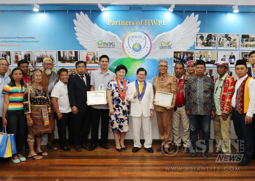Chairman Lee of HWPL and Chairwoman Kim of IWPG are Celebarating for Designating Mueso Dabawenyo as HWPL Peace Museum
