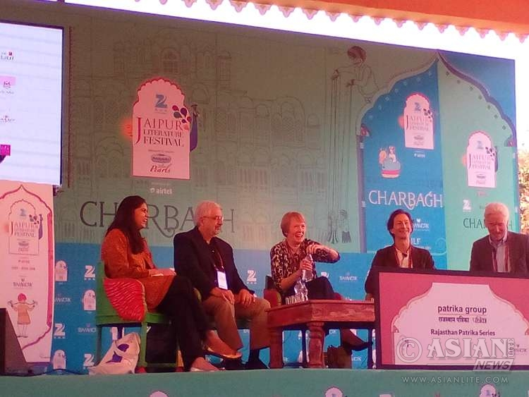 Author Vedica Kant, American historian Ronald Grigor Suny, Canadian historian Margaret Macmillan, British author Anthony Sattin and British historian Eugene Rogan discuss the fall-out of World War