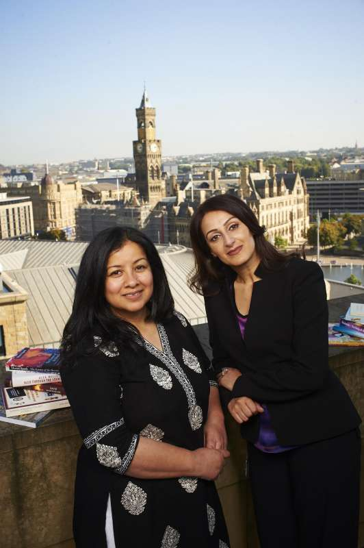 Festival Directors -  Irna Qureshi (left) and Syima Aslam