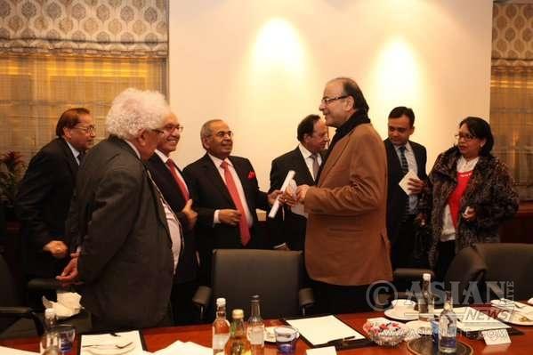 Indian Finance Minister Arun Jaitley in London (File)
