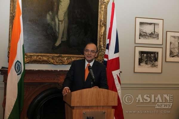 Indian Finance Minister Arun Jaitley in London