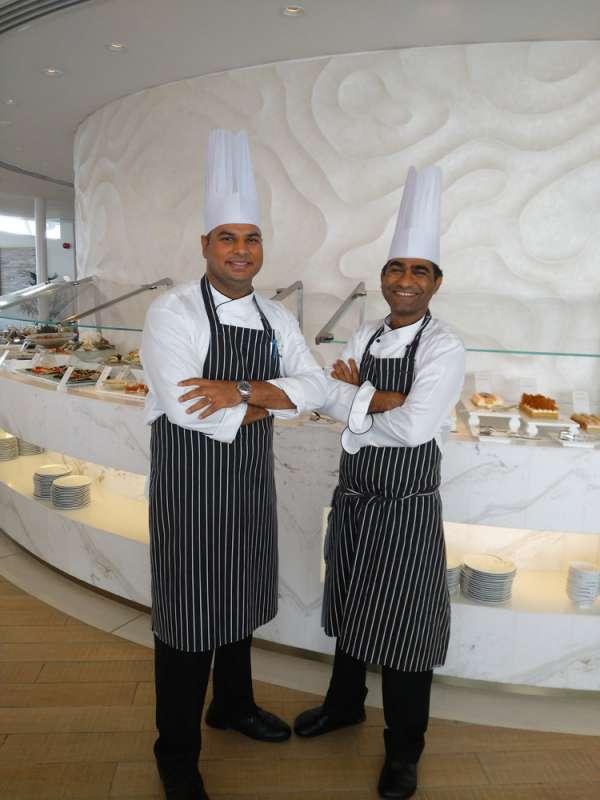 Mohit Bhargava from India and Shamoun Bhatti from Pakistan, chefs at Dubai's seven-star Burj Al Arab hotel