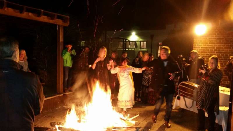 Lohri celebrations in Oxford, England