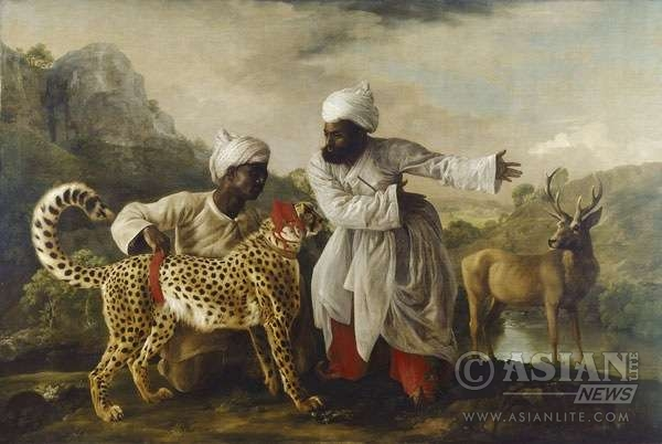 George-Stubbs A Cheetah and a Stag with two Indian Attendants 1765 -®Manchester Art Gallery