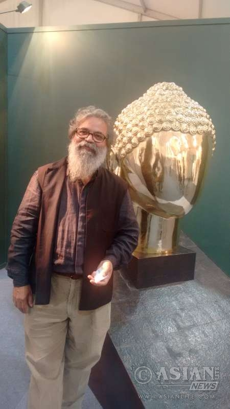 K.S. Radhakrishnan with his Shoonya Buddha