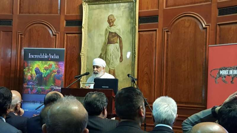 Amarjeet Bhambra, Head - Indian Spiritual sciences, at the PBD event at India House in London