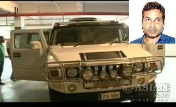 The murder weapn -Nissam Hummer and driver billionaire businessman Mohammed Nissam