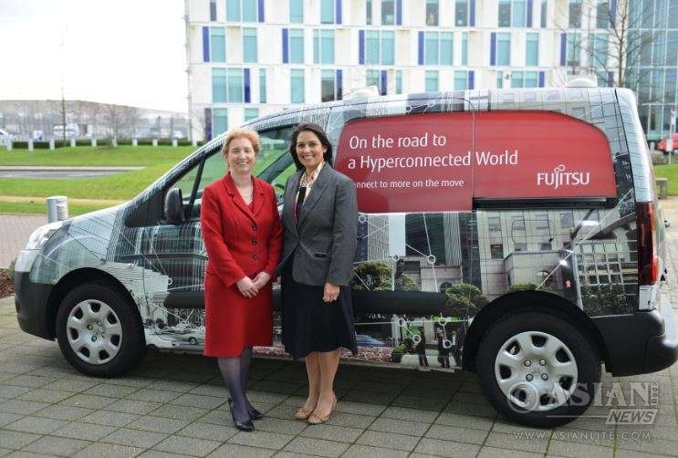 Priti Patel, Minister of State for Employment , with Regina Moran, CEO Fujitsu (UK & Ireland)