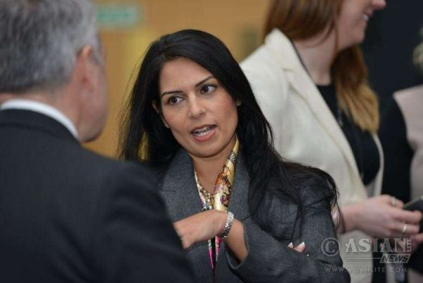 Priti Patel, the British International Development Secretary.