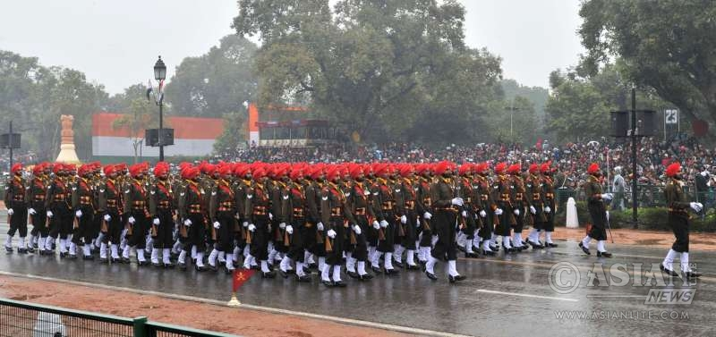 Sikh Regiment participating in the Republic Day parade in 2015