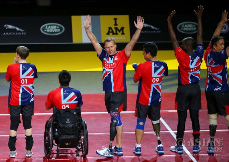 2014 UK team competitors taking part in the Invictus Games 2014. Tata's Jaguar Land Rover is proud to announce its sponsorship of the UK Team at the 2016 Invictus Games