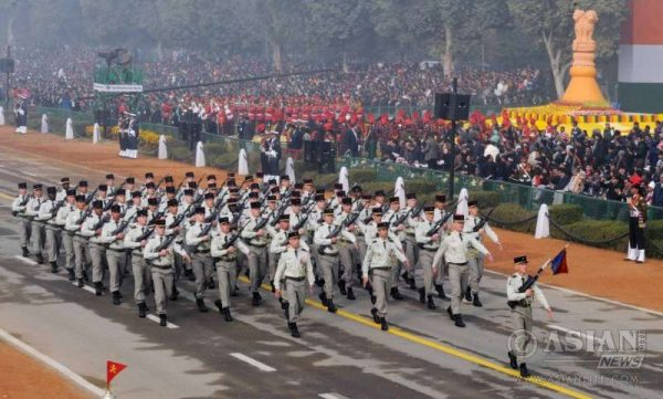 The French Army marching contingents passes through the Rajpath, on the occasion of the 67th Republic Day Parade 2016, in New Delhi