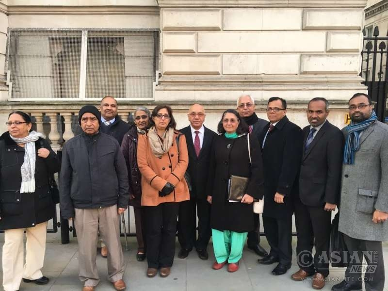 The IELTS delegation led by the office-bearers of IWA at the British Parliament