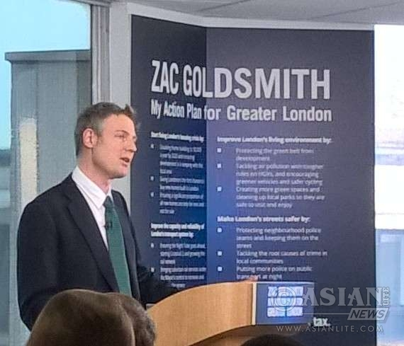 Zac Goldsmith addressing supporters in Croydon