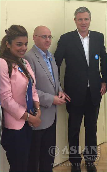 Kanwal Toor, Keith Prince with Zac Goldsmith