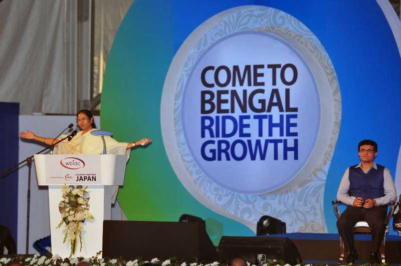 West Bengal Chief Minister Mamata Banerjee at the inaugural session of the Bengal Global Business Summit