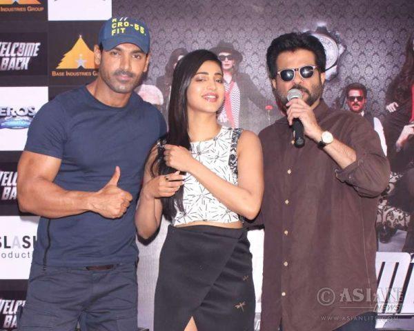 Actors Shruti Haasan, Anil Kapoor and John Abraham