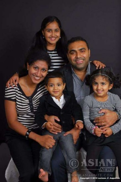 Manju Luckson with family