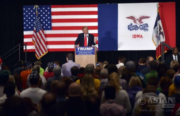 Republican Party's Donald Trump campaigning