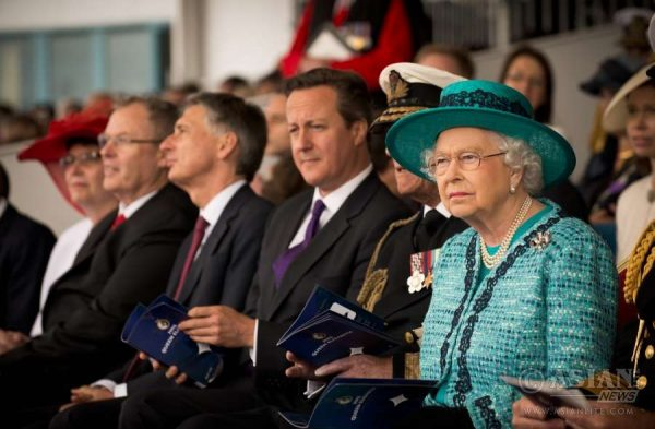 Queen Elizabeth with Prime Minister Cameron (File)