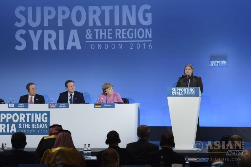 The opening session of Supporting Syria and the region conference in Londin.
