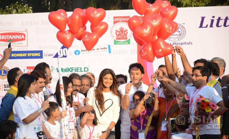 Actor Shipa Shetty Kundra at Little Hearts Marathon 2016, an initiative by Wadia Hospital to motivate kids to have a healthy lifestyle