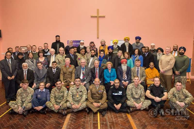 Leicester faith leaders welcome members of the Armed Forces to mark UN World Interfaith Harmony Week
