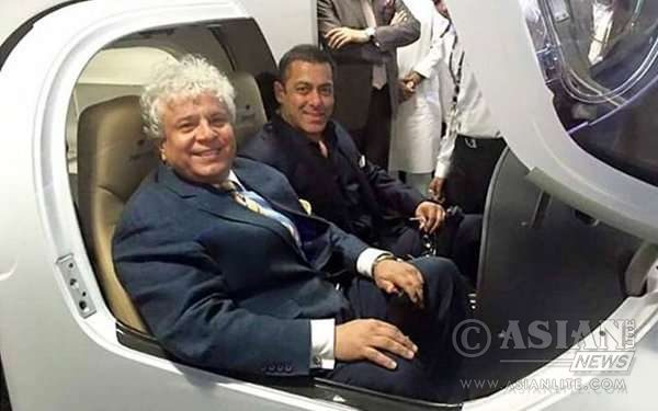 Suhel Seth with Salman Khan