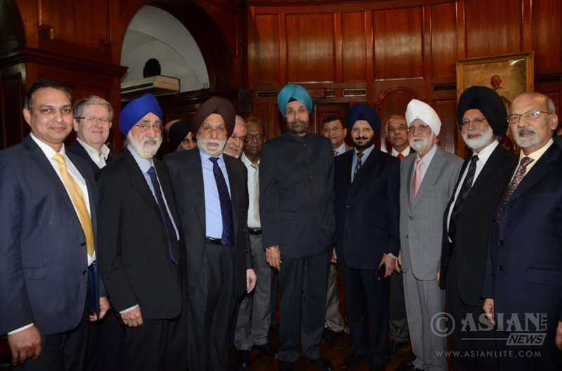 Indian High Commissioner Navtej Singh Sarna meets representatives of Indian community at India House in London