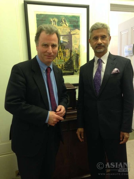 Indian Foreign Secretary Jaishankar with Oliver Letwin MP, Chancellor of the Duchy of Lancaster