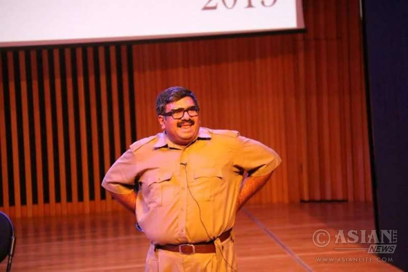 Dr Kishore Chandran on stage - Sruthi Annual Event