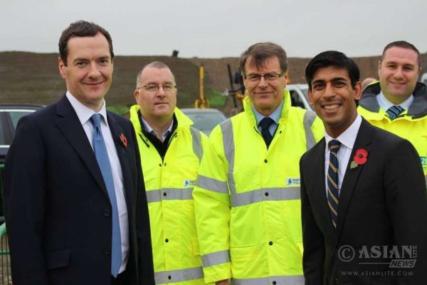 Rishi Sunak, Richmond MP, with Chancellor George Osborne