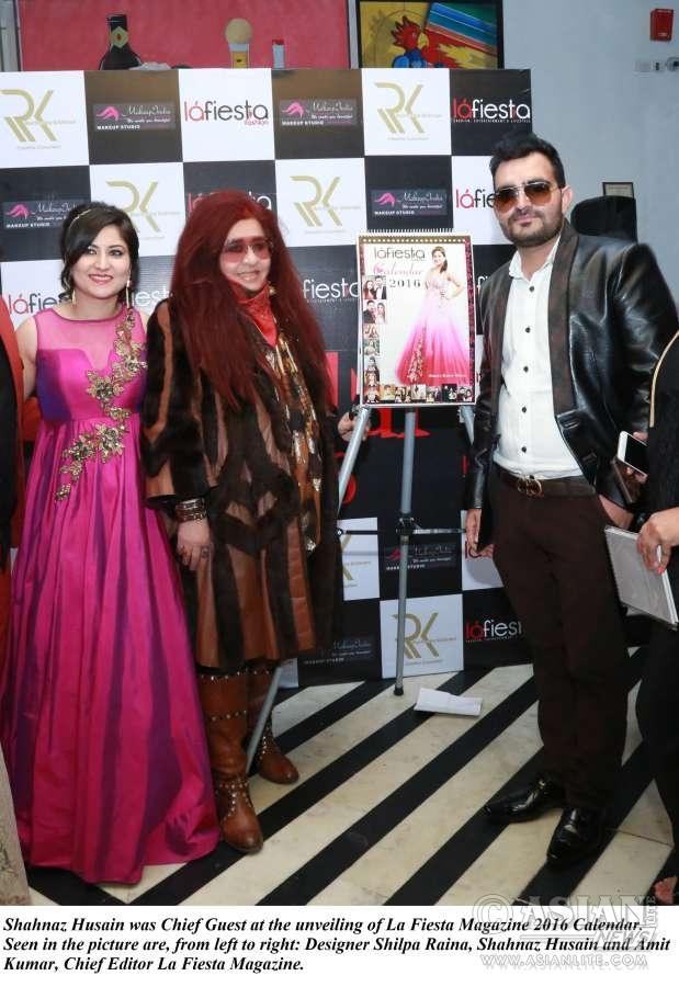 Shahnaz Husain at unveiling of La Fiesta Calendar 2