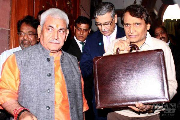 Union Minister for Railways Suresh Prabhakar Prabhu arrives at the Parliament to present Railway Budget