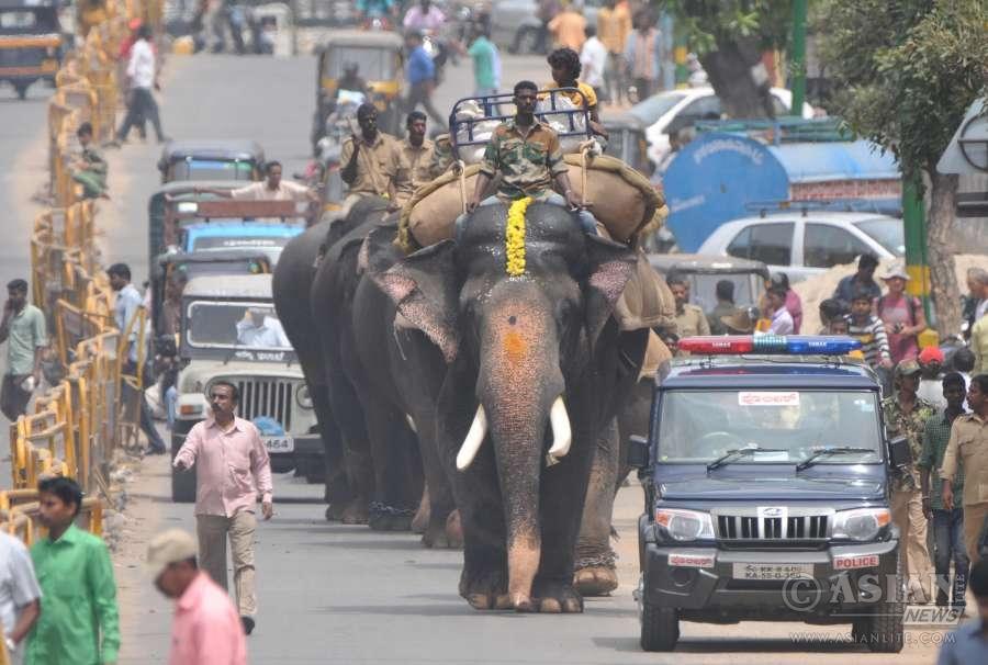 A Dussehra procession in Mysuru, Karnataka