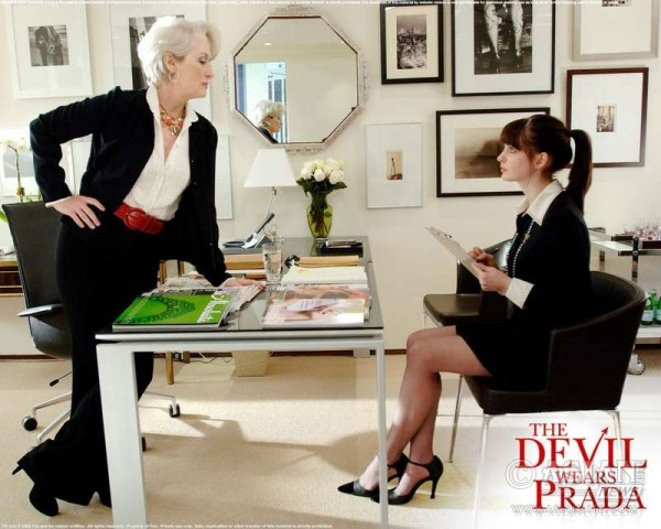 A Scene from 'The Devil Wears Prada' starring Meryl Streep and Anne Hathway