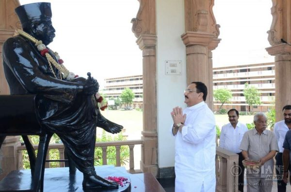 Union Minister for Health and Family Welfare JP Nadda pays tribute to RSS founder Dr KB Hedgewar in Nagpur