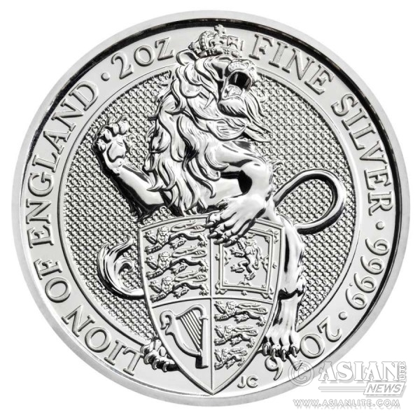 2016 Queen's Beasts Lion of England Two Ounce Silver Bullion Coin