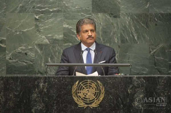 Indian industrialist Anand Mahindra