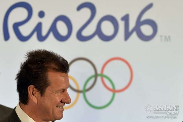 Brazil's soccer national team head coach Dunga attends the draw of the Rio 2016 Olympic Men's and Women's soccer tournaments by FIFA and Rio 2016 Olympic Games Organizing Committee at Maracana Stadium in Rio de Janeiro, Brazil,