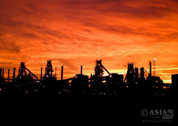 TATA Steel's Scunthorpe Works in North Lincolnshire, England