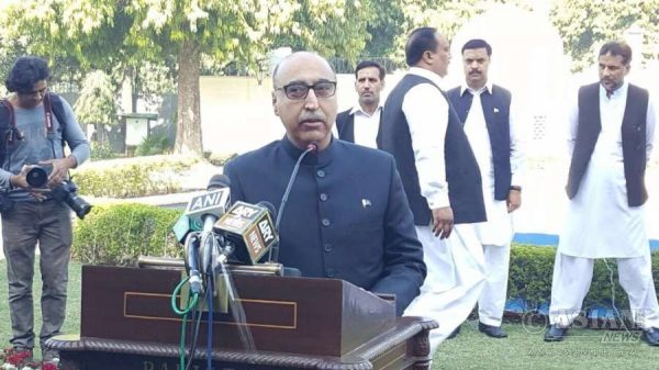 akistan envoy Abdul Basit addresses during a programme organised on Pakistan Day at Pakistan High Commission in New Delhi,