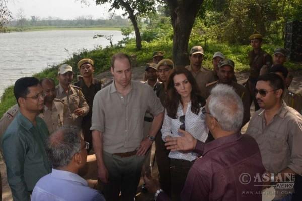Prince William and Kate Middleton in Kaziranga National Park