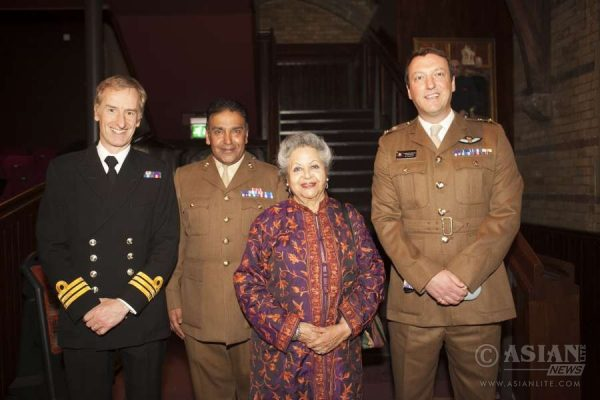 The armed forces team with Baroness Flather at CelebrASIANS 2016