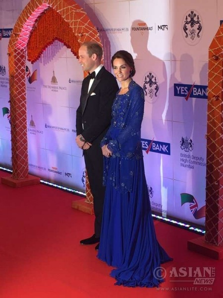 Royal couple William and Kate arrives for the charity dinner