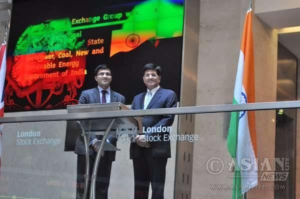 Piyush Goyal at london Stock Exchange