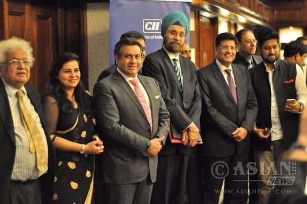 Piyush Goyal at a meeting of Investors,Industry Reps of Renewable Energy,organised by CII in London