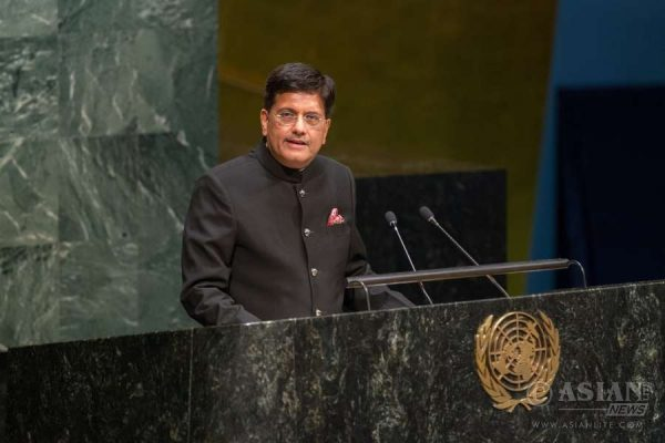 File photo of Piyush Goyal, the Minister for Coal, Power and New and Renewable Energy, addressing the second annual Sustainable Energy for All Forum last May at the United Nations
